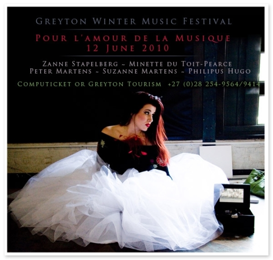 Zanne Stapelberg at Greyton Classical Festival