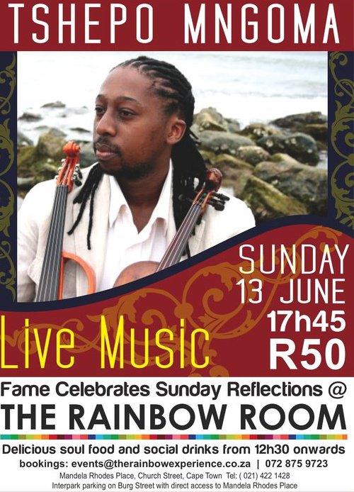 Tshepo Mngoma at The Rainbow Room