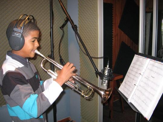 At MusicatWork recording studio - recording for Cool Classic Kidz