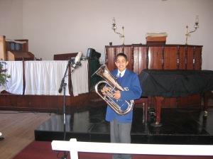 Erin tydens Cool Classic Kidz opnames vanuit die Greyton Morawiese Kerk