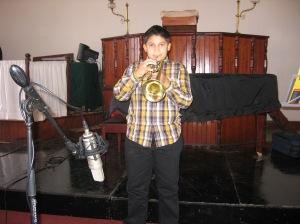 Ruan tydens opnames van Cool Classic Kidz in Greyton