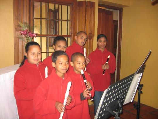 Ensemble van Uitkyk Primere Skool Greyton tydens hul optrede by Ganadendal/Greyton Klassieke Fees